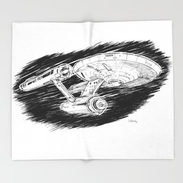 USS Enterprise Throw Blanket