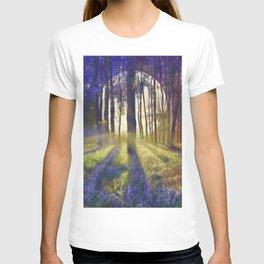 moonlight forest landscape T-shirt