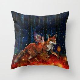 The Origin of Fire Throw Pillow