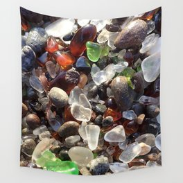 Glass beach California Wall Tapestry