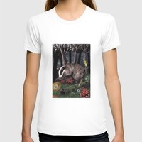 badger T-shirts featuring badger by ahatom