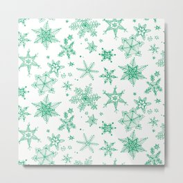 Snow Flakes 03 Metal Print