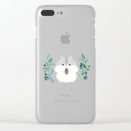 Furball in the garden Clear iPhone Case