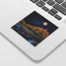 Midnight Desert Moon Sticker