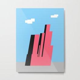 Geometric City Metal Print
