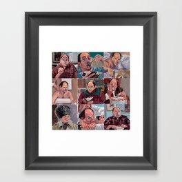 9 shades of Costanzas Framed Art Print