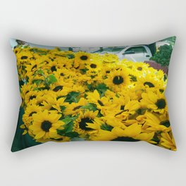 Farmer's Market Flowers Rectangular Pillow