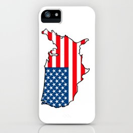 United States Map with American Flag iPhone Case