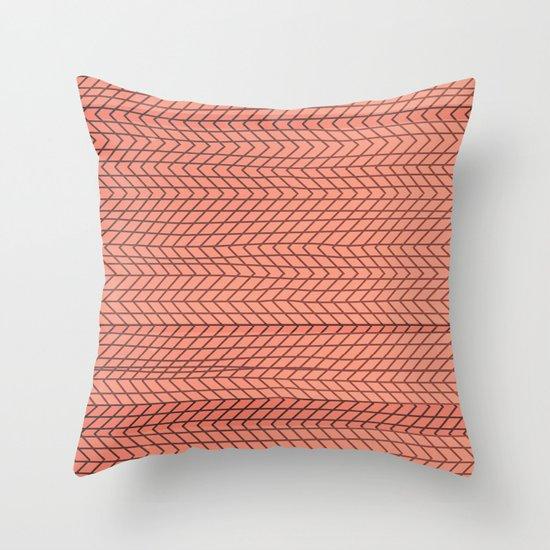 dizzy red Throw Pillow