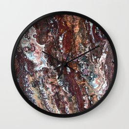 Blood Marble Wall Clock