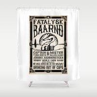 concert Shower Curtains featuring Fatalysk Baarnd Concert Poster by Mark Schumaker