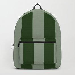 Large Dark Forest Green Circus Tent Stripes Backpack