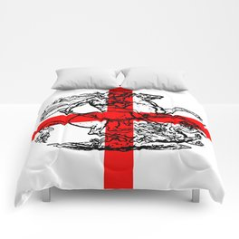 George and the Dragon Patriotic Flag Comforters