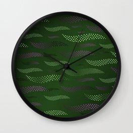 Waves / Tiger (stylized pattern) 6 Wall Clock