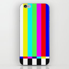 color tv iPhone Skin