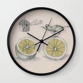 Lemon bird Wall Clock