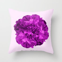 Peony Flower On A Pink Background #decor #society6 #buyart Throw Pillow
