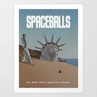 planet of the apes Art Prints featuring Spaceballs: Planet of the Apes by Preston Porter