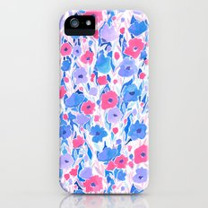 Flower Field Lilac Blue iPhone (5, 5s) Slim Case