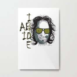 The Dude - Big Lebowski INK Metal Print
