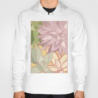 succulents Hoodies featuring Succulents by Julia Walters Illustration