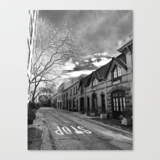 STOP For Brooklyn Heights Brownstone Love NYC Canvas Print