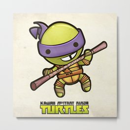 Donatello - Kawaii Mutant Ninja Turtles Metal Print