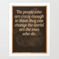 steve jobs Art Prints featuring Steve Jobs by The Quotes Project