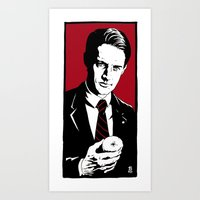 dale cooper Art Prints featuring Agent Dale Cooper, FBI by Shawn Dubin