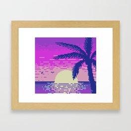 Pixel Sunset Framed Art Print