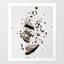 Gray Crush Art Print