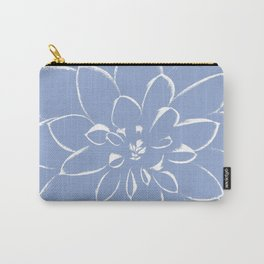 Dahlia Serenity Blue Carry-All Pouch