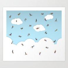 SkyDivers! Art Print