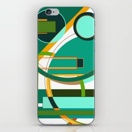 D is for Deco: Abstract Art Deco Font Typography iPhone Skin