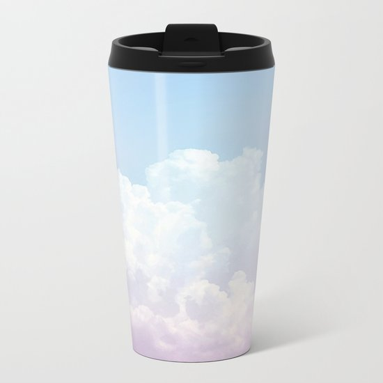 Dreamy Cotton Blue Sky Metal Travel Mug