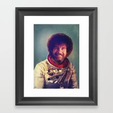 Happy Little Astronaut Framed Art Print