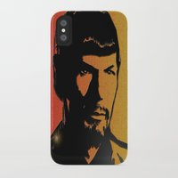 spock iPhone & iPod Cases featuring Spock by SVA🌺Silvia Van
