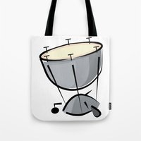 drum Tote Bags featuring Timpani Drum by shopaholic chick