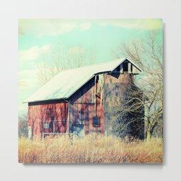 Barn in the heartland Metal Print