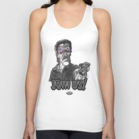 "evil dead Tank Tops featuring Evil Ash from ""Evil Dead 2: Dead By Dawn"" by Andysocial Industries"