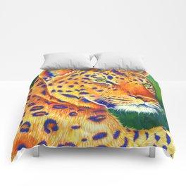 Colorful Leopard Big Cat Wild Cat Comforters