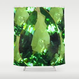 LIME GREEN PERIDOT GEMS AUGUST BIRTHSTONES Shower Curtain