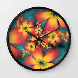 Chintz Flowers Wall Clock