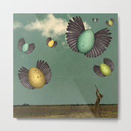 Egg Flight Metal Print