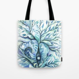 Tree of Life (blues) Tote Bag