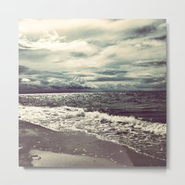 The Ocean Does Not Sleep Metal Print