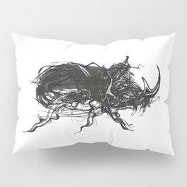 Beetle 1. Black on white background Pillow Sham