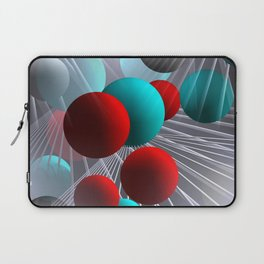 crazy lines and balls -21- Laptop Sleeve