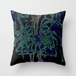 Neon Sally Rand Throw Pillow