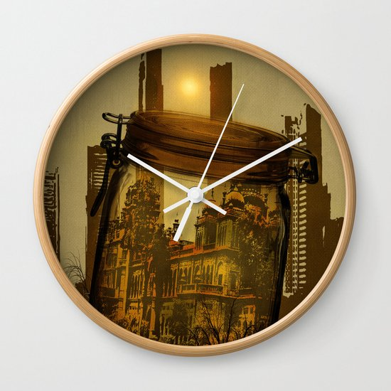 The last vintage city. Wall Clock